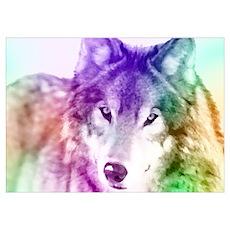 Wolf Gaze Art Poster