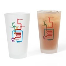 Cute Metro map Drinking Glass