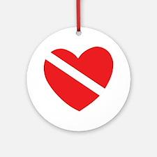 Love Scuba Diving Ornament (Round)