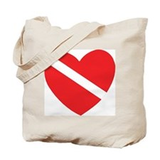 Love Scuba Diving Tote Bag