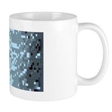 A lovely Dwarf Fortress mug made by the Dwarves