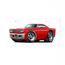 1969 Roadrunner Red Car Aluminum License Plate