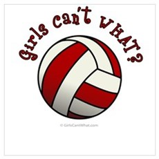 Volleyball Team - Red Canvas Art