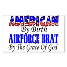 AF Brat By The Grace Of God Rectangle Decal
