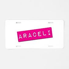Araceli Punchtape Aluminum License Plate