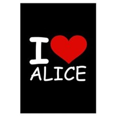 I LOVE ALICE (blk) Canvas Art