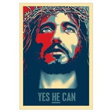 Yes HE Can Framed Print
