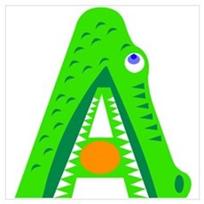 A is for Alligator Poster