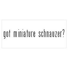 Got Miniature Schnauzer? Poster