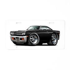 1969 Roadrunner Black Car Aluminum License Plate