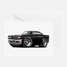 1969 Roadrunner Black Car Greeting Card