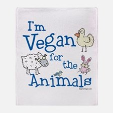 Vegan for Animals Throw Blanket