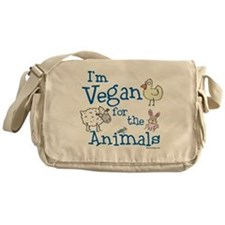 Vegan for Animals Messenger Bag