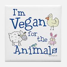 Vegan for Animals Tile Coaster