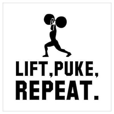 Lift, Puke, Repeat. Poster