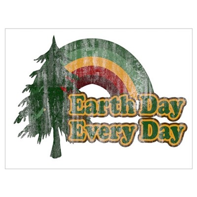 Earth Day Every Day Retro Poster