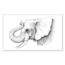 Elephant profile drawing Decal