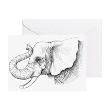 Elephant profile drawing Greeting Card