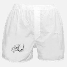 Elephant profile drawing Boxer Shorts