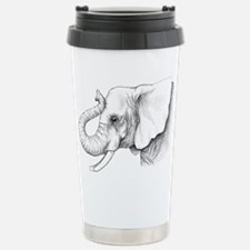 Elephant profile drawing Stainless Steel Travel Mu