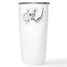 Elephant profile drawing Travel Mug