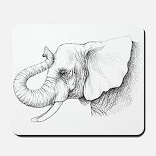 Elephant profile drawing Mousepad