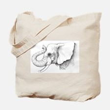 Elephant profile drawing Tote Bag