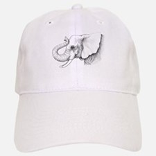 Elephant profile drawing Baseball Baseball Cap