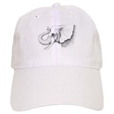 Elephant profile drawing Baseball Cap