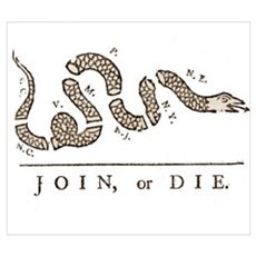 Join or Die Snake Poster