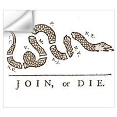 Join or Die Snake Wall Decal