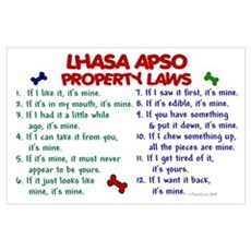 Lhasa Apso Property Laws 2 Poster
