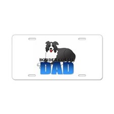 Border Collie Aluminum License Plate