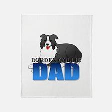 Border Collie Dad Throw Blanket
