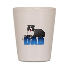 Border Collie Dad Shot Glass