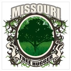 Tree Hugger Missouri Poster
