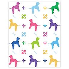 Bedlington Terrier Designer Poster