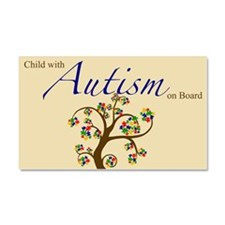 Child with Autism on Board Car Magnet 20 x 12
