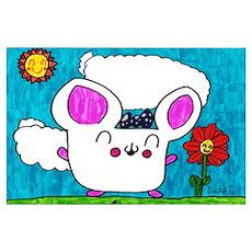 Happy Time Hamster Girl Print Poster