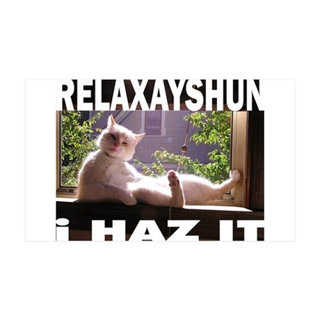 Relaxation Cat 38.5 x 24.5 Wall Peel