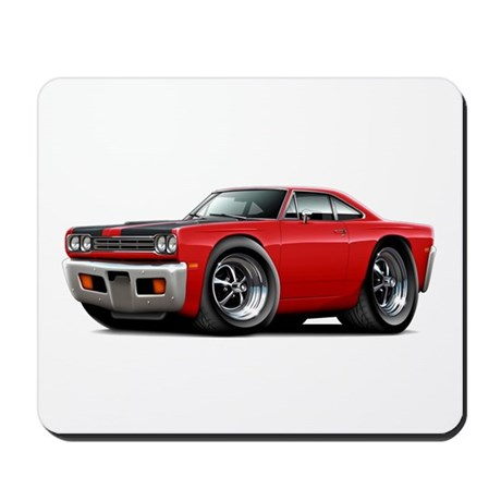 1969 Roadrunner Red-Black Mousepad