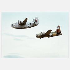 B-24 and B-17 Flying