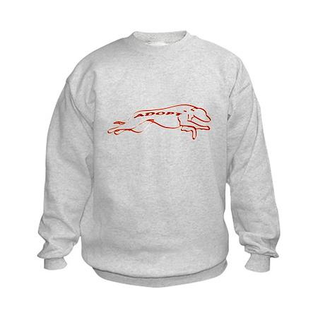 Adopt in Red Kids Sweatshirt