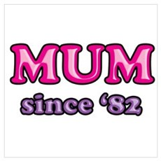 Mum Since 1982 Mother's Day Canvas Art