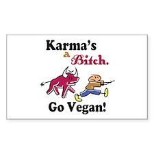 Vegan Karma Decal