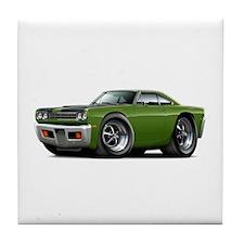 1969 Roadrunner Ivy-Black Tile Coaster