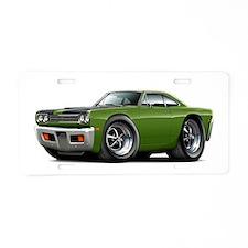 1969 Roadrunner Ivy-Black Aluminum License Plate