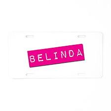 Belinda Punchtape Aluminum License Plate