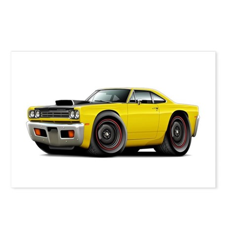 1969 Roadrunner A12 Yellow Postcards (Package of 8