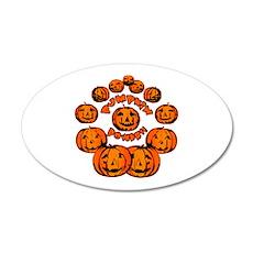 Pumpkin Power 22x14 Oval Wall Peel